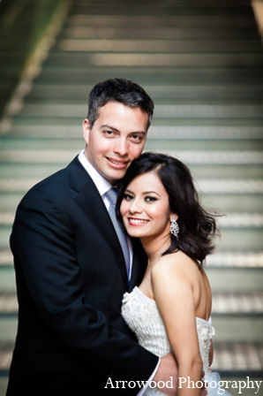 Wedding portrait in San Francisco, California Indian Wedding by Arrowood Photography