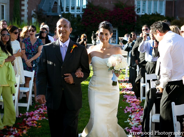 Indian wedding bridal bouquet in Adorable Indian Fusion Wedding by Arrowood Photography Burlingame, California
