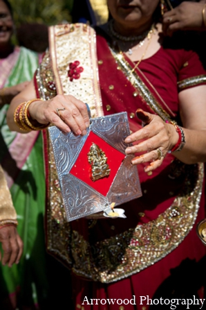 Indian wedding ceremonial tradition in Adorable Indian Fusion Wedding by Arrowood Photography Burlingame, California