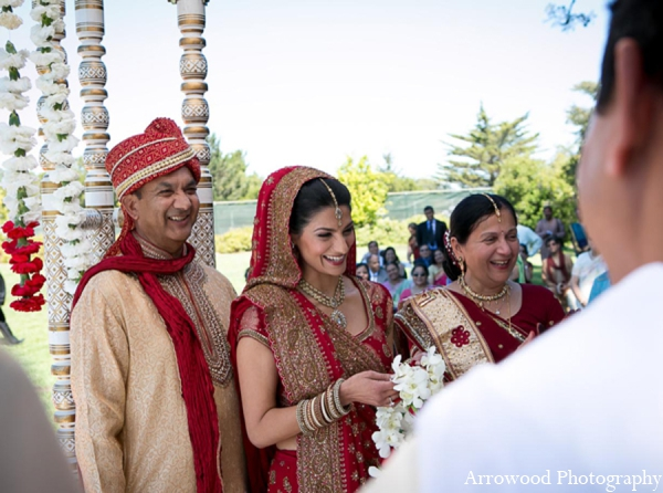 Indian wedding ceremonial traditions in Adorable Indian Fusion Wedding by Arrowood Photography Burlingame, California