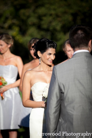 Indian wedding ceremony bride in Adorable Indian Fusion Wedding by Arrowood Photography Burlingame, California