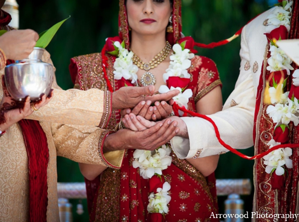 Indian wedding ceremony customs traditions in Adorable Indian Fusion Wedding by Arrowood Photography Burlingame, California