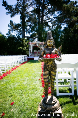 Indian wedding ceremony design traditional mandap in Adorable Indian Fusion Wedding by Arrowood Photography Burlingame, California