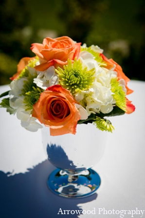 Indian wedding ceremony floral bouquet in Adorable Indian Fusion Wedding by Arrowood Photography Burlingame, California