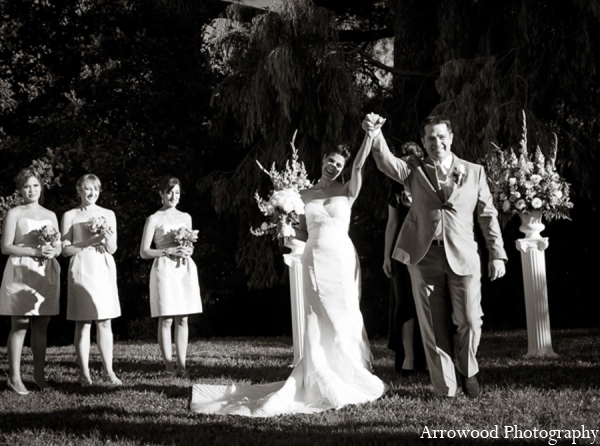 Indian wedding ceremony outdoor floral in Adorable Indian Fusion Wedding by Arrowood Photography Burlingame, California