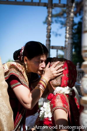 Indian wedding ceremony tradition custom in Adorable Indian Fusion Wedding by Arrowood Photography Burlingame, California