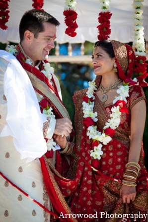 Indian wedding ceremony tradition mandap in Adorable Indian Fusion Wedding by Arrowood Photography Burlingame, California