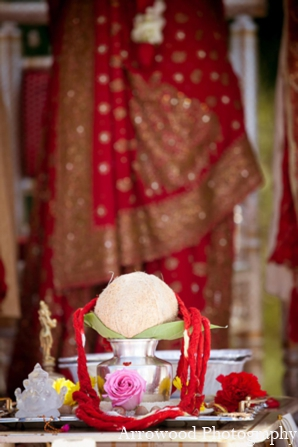 Indian wedding ceremony tradition in Adorable Indian Fusion Wedding by Arrowood Photography Burlingame, California
