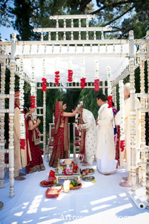 Indian wedding ceremony traditions in Adorable Indian Fusion Wedding by Arrowood Photography Burlingame, California