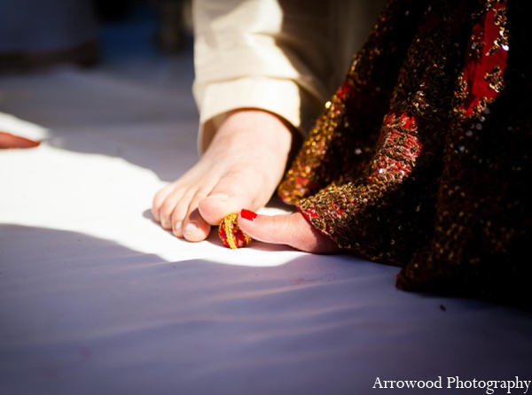Indian wedding customs seven blessings in Adorable Indian Fusion Wedding by Arrowood Photography Burlingame, California