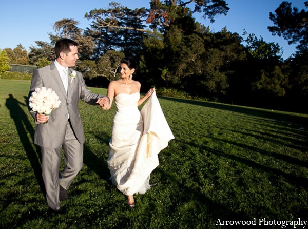 Indian wedding image bride groom in Adorable Indian Fusion Wedding by Arrowood Photography Burlingame, California