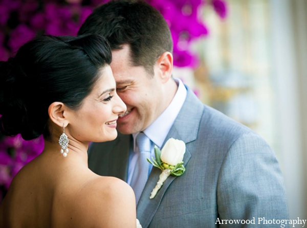 Indian wedding portrait bride groom in Adorable Indian Fusion Wedding by Arrowood Photography Burlingame, California