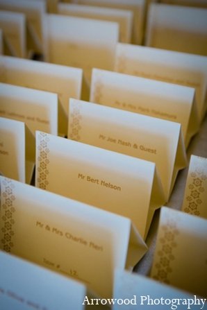 Indian wedding reception stationary in Adorable Indian Fusion Wedding by Arrowood Photography Burlingame, California
