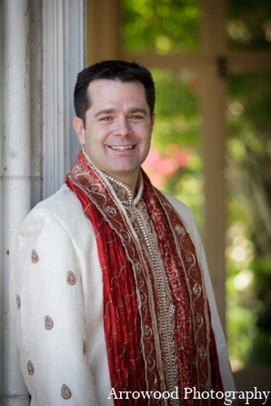 Indian wedding tradition groom outfit in Adorable Indian Fusion Wedding by Arrowood Photography Burlingame, California