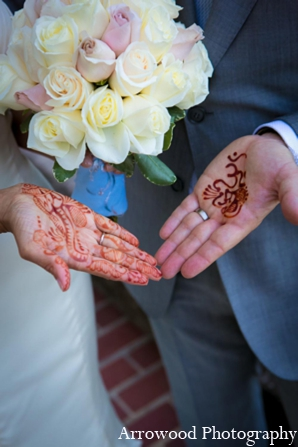 Indian wedding tradition portrait in Adorable Indian Fusion Wedding by Arrowood Photography Burlingame, California
