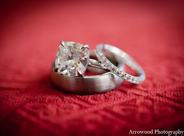 Indian wedding tradition rings in Adorable Indian Fusion Wedding by Arrowood Photography Burlingame, California