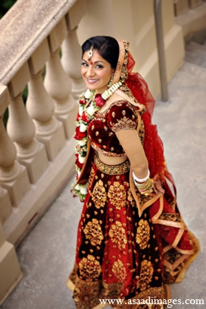Indian wedding bridal fashion portrait in Orlando, Florida Indian Wedding by Asaad Images