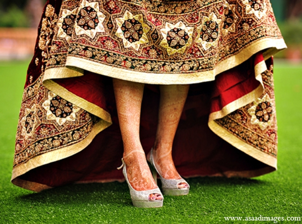 Indian wedding bridal lengha shoes fashion in Orlando, Florida Indian Wedding by Asaad Images