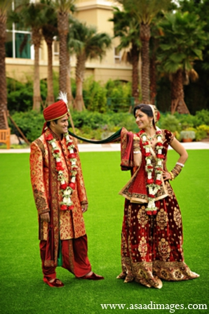 indian wedding bride groom portrait idea
