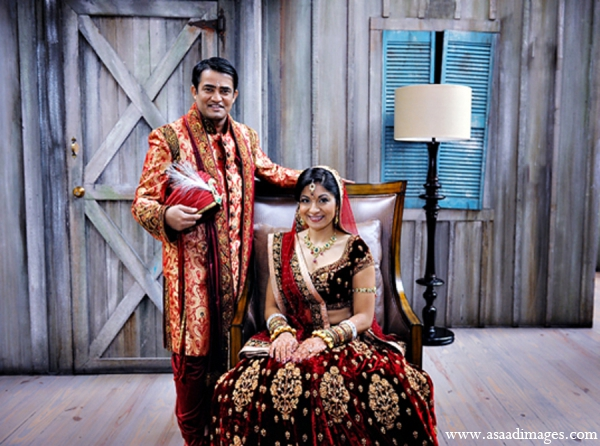 Indian wedding bride groom portrait in Orlando, Florida Indian Wedding by Asaad Images