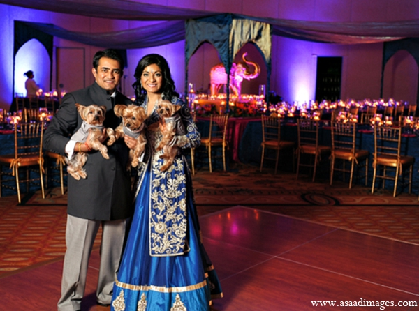 Indian-wedding bride groom portraits ligthing decor in Orlando, Florida Indian Wedding by Asaad Images