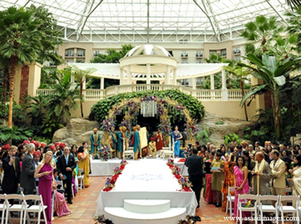 Indian wedding ceremony mandap floral decor in Orlando, Florida Indian Wedding by Asaad Images