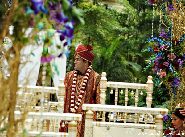red,purple,gold,white,green,brown,ceremony,mandap,traditional indian wedding,indian wedding traditions,Asaad Images