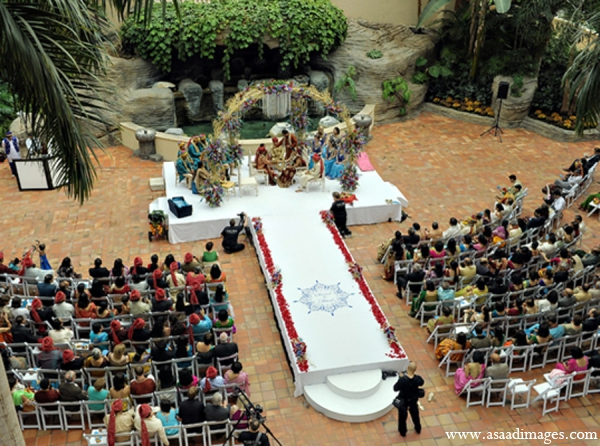 Indian wedding ceremony venue outdoor in Orlando, Florida Indian Wedding by Asaad Images