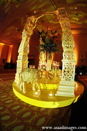 Indian wedding decor floral sangeet in Orlando, Florida Indian Wedding by Asaad Images