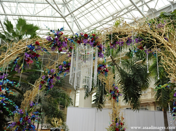 Indian wedding floral mandap decor in Orlando, Florida Indian Wedding by Asaad Images