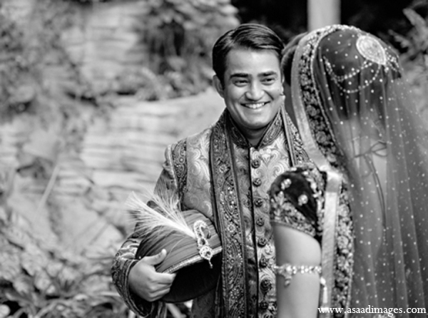 Indian wedding groom bride portrait in Orlando, Florida Indian Wedding by Asaad Images