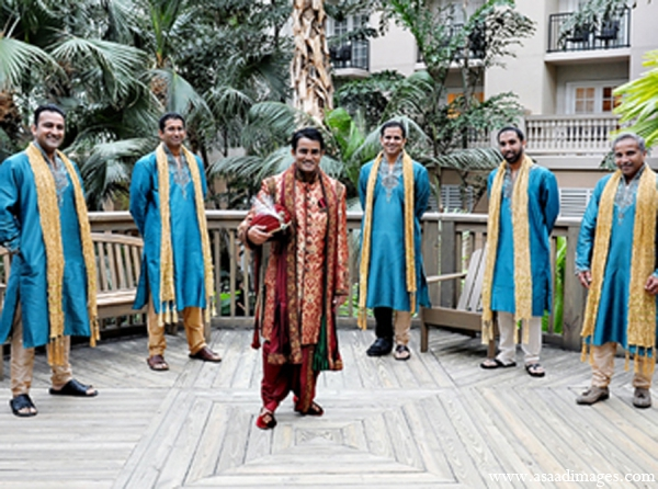 Indian wedding groomsmen fashion outfit in Orlando, Florida Indian Wedding by Asaad Images