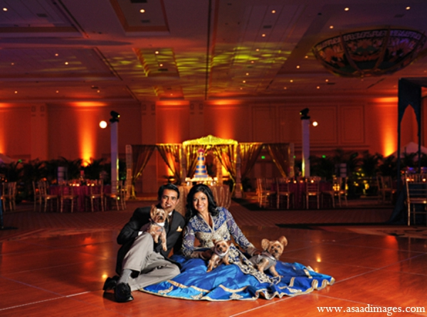 Indian wedding lighting reception portrait in Orlando, Florida Indian Wedding by Asaad Images