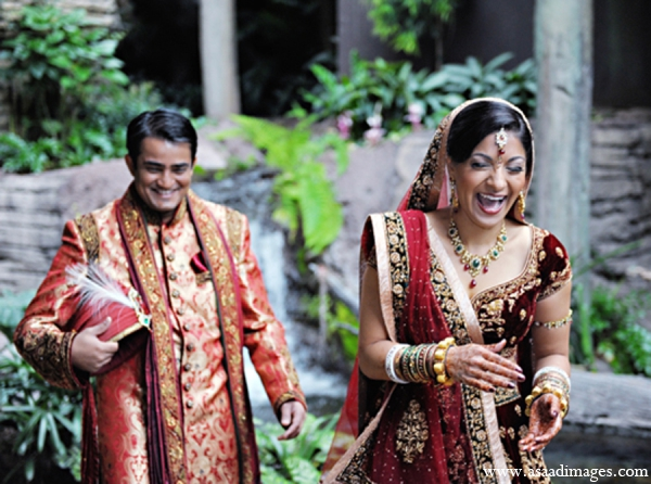 Indian wedding portrait bride groom in Orlando, Florida Indian Wedding by Asaad Images