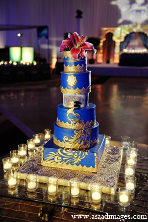 Indian wedding reception cake in Orlando, Florida Indian Wedding by Asaad Images