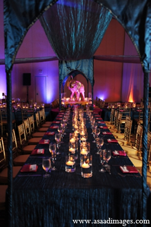 Indian Wedding Reception Design Table Photo 5655