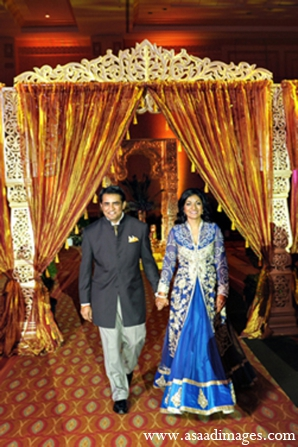 Indian wedding sangeet fashion traditional in Orlando, Florida Indian Wedding by Asaad Images
