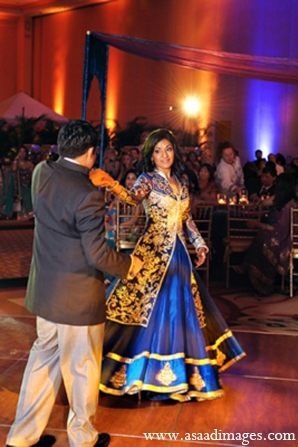 Indian wedding sangeet lengha bride in Orlando, Florida Indian Wedding by Asaad Images