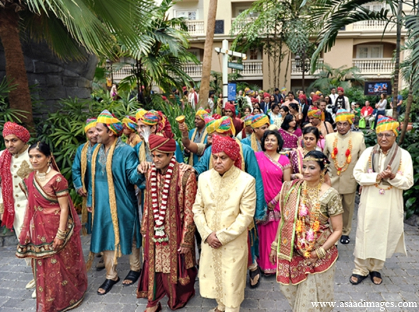 Indian wedding tradition baraat groom in Orlando, Florida Indian Wedding by Asaad Images