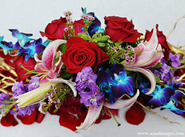 Indian wedding tradition floral bouquet in Orlando, Florida Indian Wedding by Asaad Images