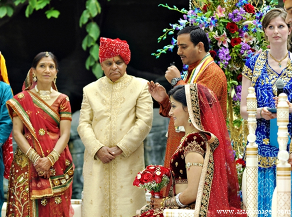 Indian wedding tradition red gold in Orlando, Florida Indian Wedding by Asaad Images