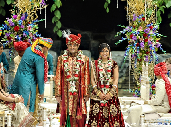 Indian wedding traditional ceremony mandap in Orlando, Florida Indian Wedding by Asaad Images