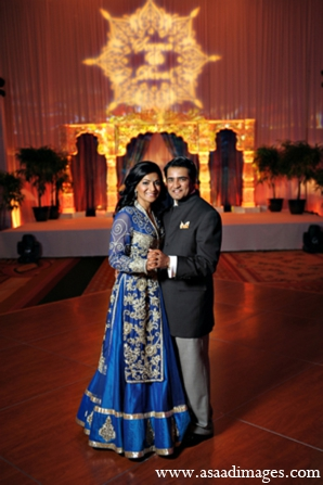 Indian wedding venue sangeet decor in Orlando, Florida Indian Wedding by Asaad Images