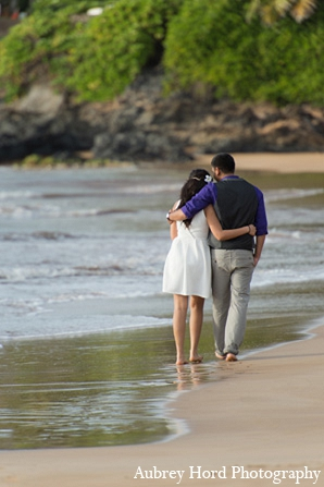 Indian wedding engagement portraits beach ocean in Sunday Sweetheart Winners ~ Ruchi and Maulik by Aubrey Hord Photography