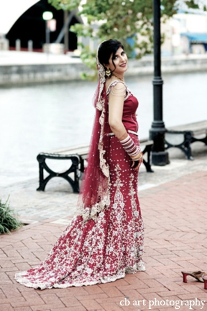 Indian wedding bridal fashion portrait