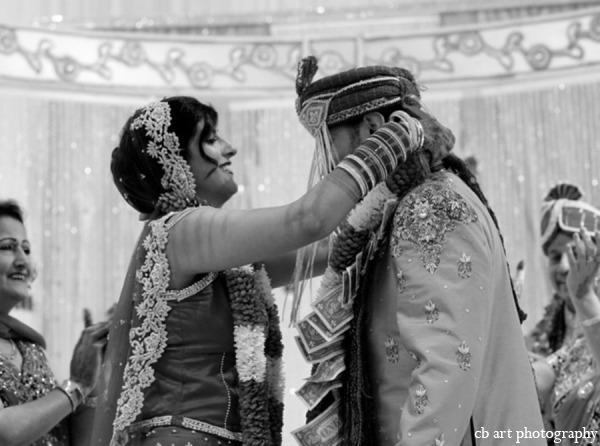 Indian wedding ceremony black white