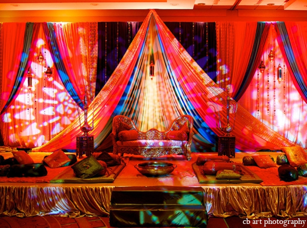 Indian wedding lighting decor reception