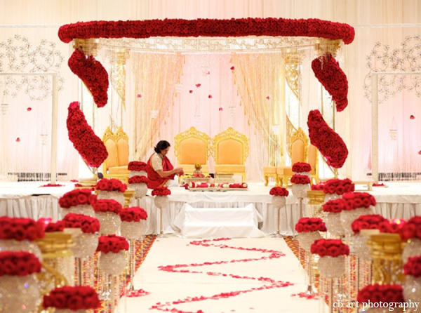 Indian Wedding Mandap Floral Decor