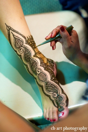 Indian wedding mehndi party tradition