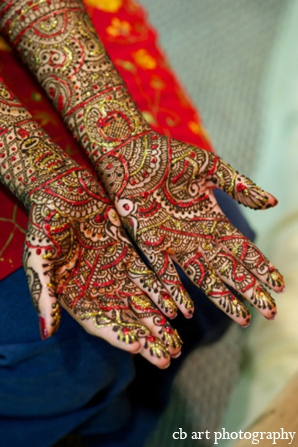 Indian wedding mehndi tradition color